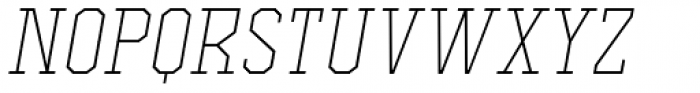 Comply Slab Extra Light Italic Font LOWERCASE