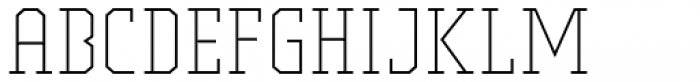 Comply Slab Extra Light Font LOWERCASE