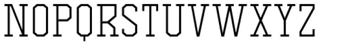 Comply Slab Light Font LOWERCASE