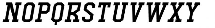 Comply Slab Semi Bold Italic Font UPPERCASE