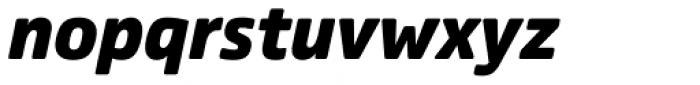 Comspot Black Italic Font LOWERCASE