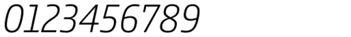 Comspot Tec Extra Light Italic Font OTHER CHARS