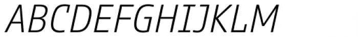 Comspot Tec Extra Light Italic Font UPPERCASE