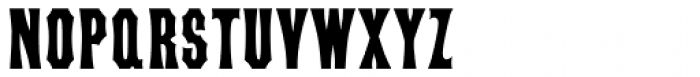 Concave Tuscan X Condensed Bold Font UPPERCASE