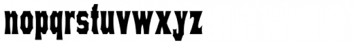 Concave Tuscan X Condensed Bold Font LOWERCASE