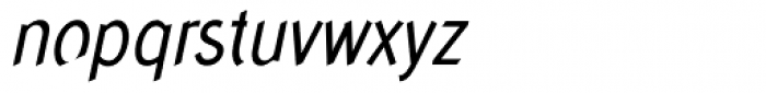 Concept Sans Condensed Italic Font LOWERCASE