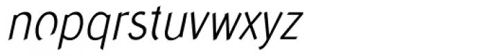 Concept Sans Condensed Light Italic Font LOWERCASE