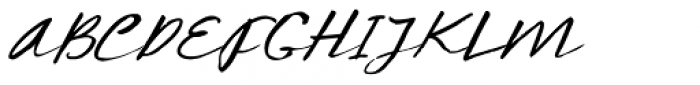 Concertina Italic Font UPPERCASE