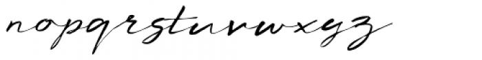 Concertina Italic Font LOWERCASE