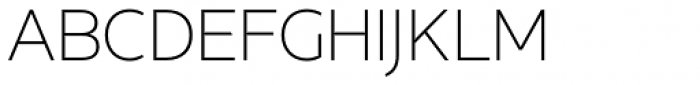 Concord Thin Font UPPERCASE