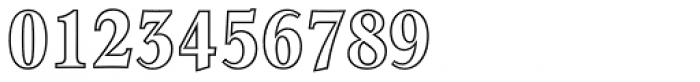 Concorde BE Bold Condensed Outline Font OTHER CHARS