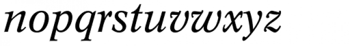 Concorde BE Italic Font LOWERCASE