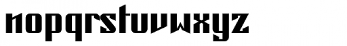 Concrete Regular Font LOWERCASE