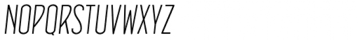 Concurso Italian BTN Light Oblique Font UPPERCASE