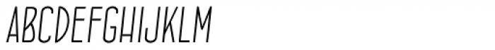 Concurso Italian BTN Light Oblique Font LOWERCASE