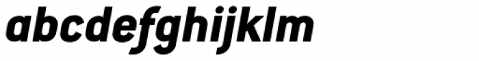 Conduit Std ExtraBold Italic Font LOWERCASE