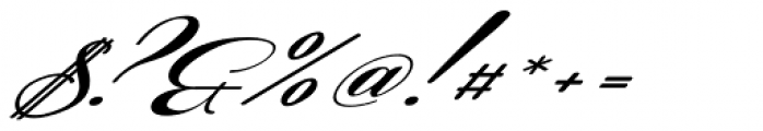 Coneria Script Slanted Fat Font OTHER CHARS