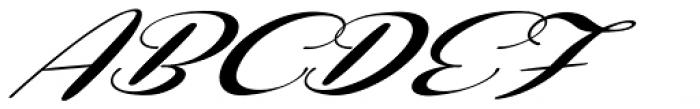 Coneria Script Slanted Fat Font UPPERCASE