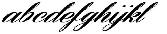 Coneria Script Slanted Fat Font LOWERCASE