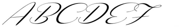 Coneria Script Slanted Light Font UPPERCASE