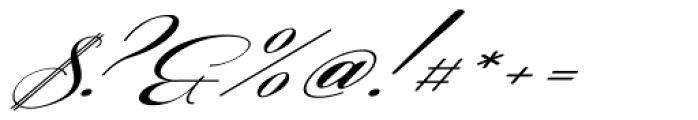 Coneria Script Slanted Medium Font OTHER CHARS