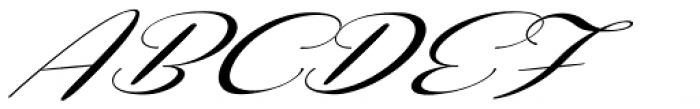 Coneria Script Slanted Medium Font UPPERCASE