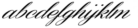 Coneria Script Slanted Medium Font LOWERCASE
