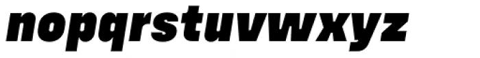 Config Alt Black Italic Font LOWERCASE