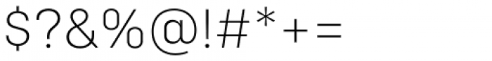 Config Alt Extra Light Font OTHER CHARS