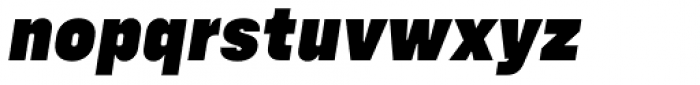 Config Black Italic Font LOWERCASE