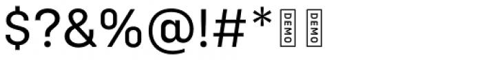 Config DEMO Regular Font OTHER CHARS