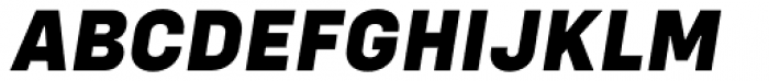 Config Extra Bold Italic Font UPPERCASE