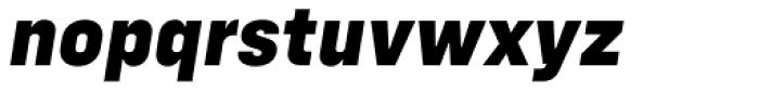 Config Extra Bold Italic Font LOWERCASE