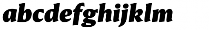 Conglomerate Black Italic Font LOWERCASE
