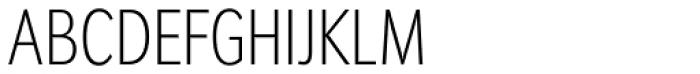 Congress Sans Std Cond ExtraLight Font UPPERCASE