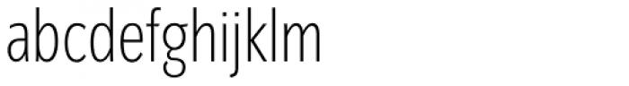 Congress Sans Std Cond ExtraLight Font LOWERCASE