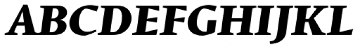 Conqueror Text ExtraBold Italic Font UPPERCASE