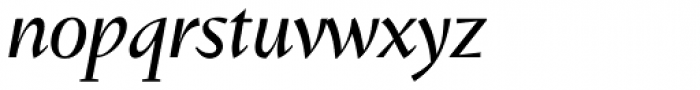 Conqueror Text Italic Font LOWERCASE