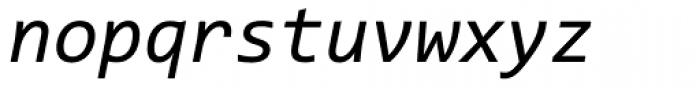 Consolas Italic Font LOWERCASE