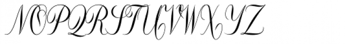Constancia Script Bold Font UPPERCASE