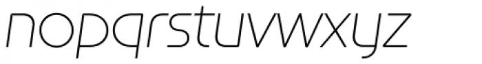 Constellation ExtraLight Italic Font LOWERCASE