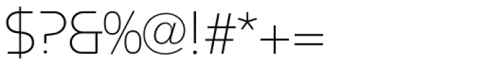 Constellation ExtraLight Font OTHER CHARS