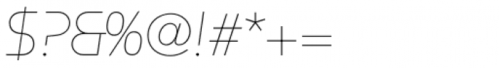 Constellation UltraLight Italic Font OTHER CHARS
