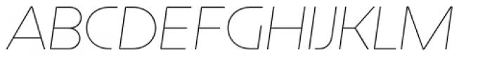 Constellation UltraLight Italic Font UPPERCASE