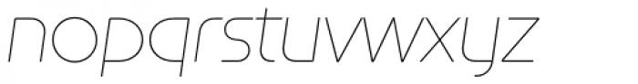 Constellation UltraLight Italic Font LOWERCASE
