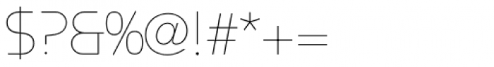 Constellation UltraLight Font OTHER CHARS