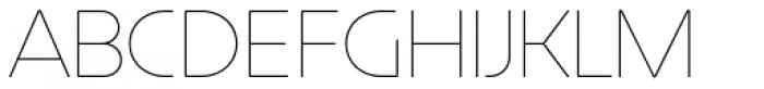 Constellation UltraLight Font UPPERCASE
