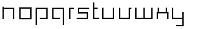 Construct Font LOWERCASE