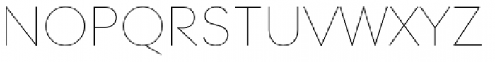 Contax Pro 25 UltraLight SC Font UPPERCASE