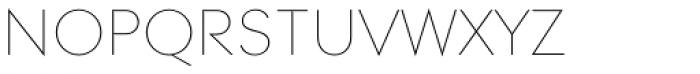 Contax Pro 25 UltraLight SC Font LOWERCASE
